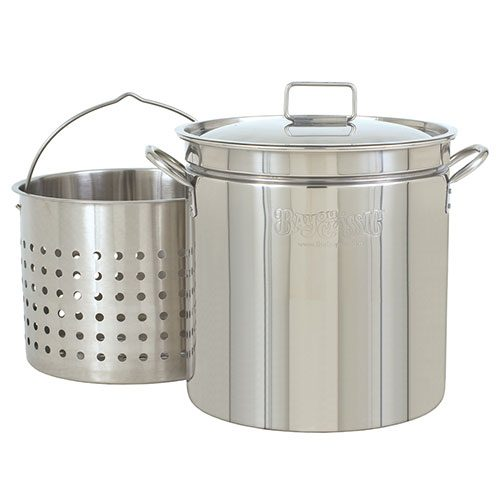 122 Quart Stainless Steel Stock Pot with Basket