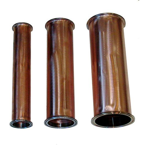 2 Inch x 12 Inch Tall Copper Extension