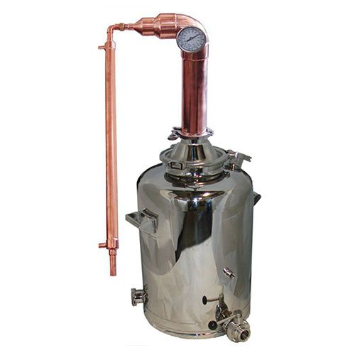 3 Inch Copper Pot Still Tower 16 Gallon Milk Can