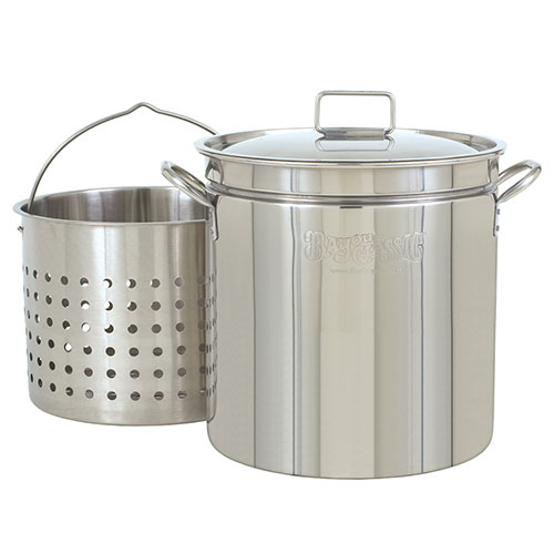 44 Quart Stainless Steel Stock Pot with Basket