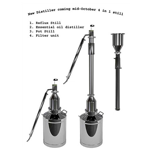 8 Gallon with 2 Inch Hybrid 4 in 1 Distiller