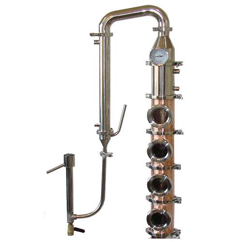 Copper 4 Inch Diameter Mile Hi Flute - 4 Sections