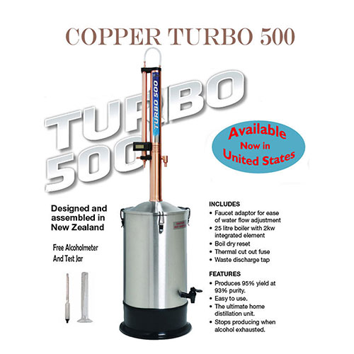 Copper Turbo 500 Distillation