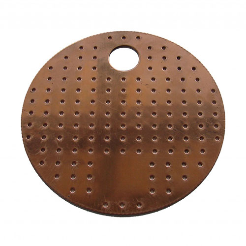 Perforated Copper Plate 4 Inch Diameter
