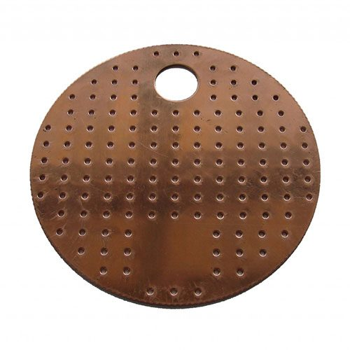 Perforated Copper Plates 4 Inch Diameter 4 PACK