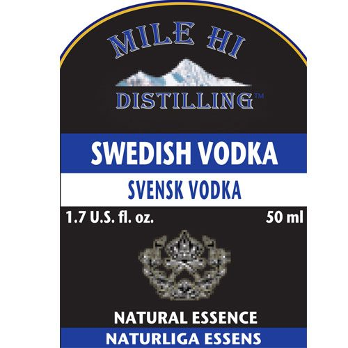 Mile Hi Swedish Vodka Essence (50ML)