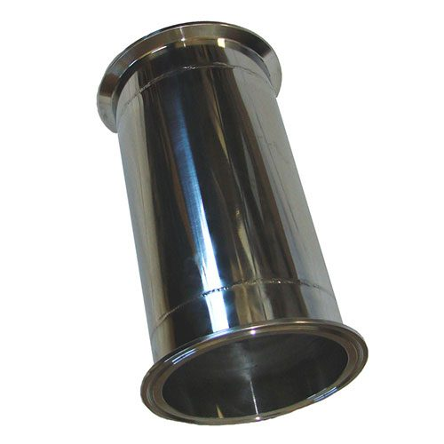 4 Inch x 12 Inch Tall Stainless Steel Column Extension