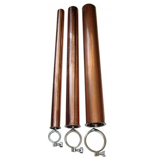 4 Inch x 36 Inch Tall DIY Ready-to-Mount Copper Tube