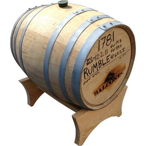 5 Gallon Used Whiskey Barrels with Stand