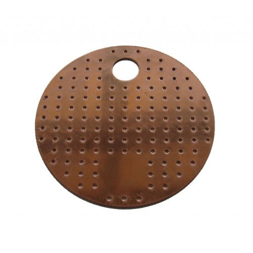 Perforated Copper Plate 6 Inch Diameter