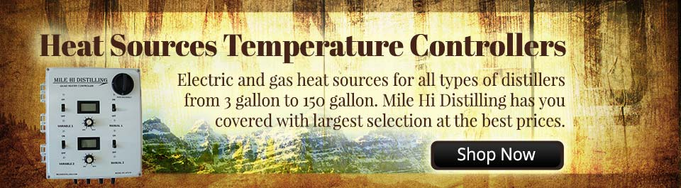 Electric and gas heat sources for all types of distillers from 3 gallon to 150 gallon. Mile Hi Distilling has you covered with largest selection at the best prices.