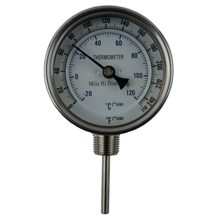 adjustable stainless dial thermometer