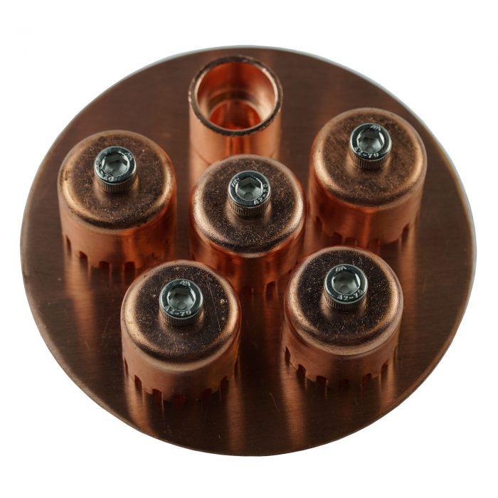 copper bubble cap plate