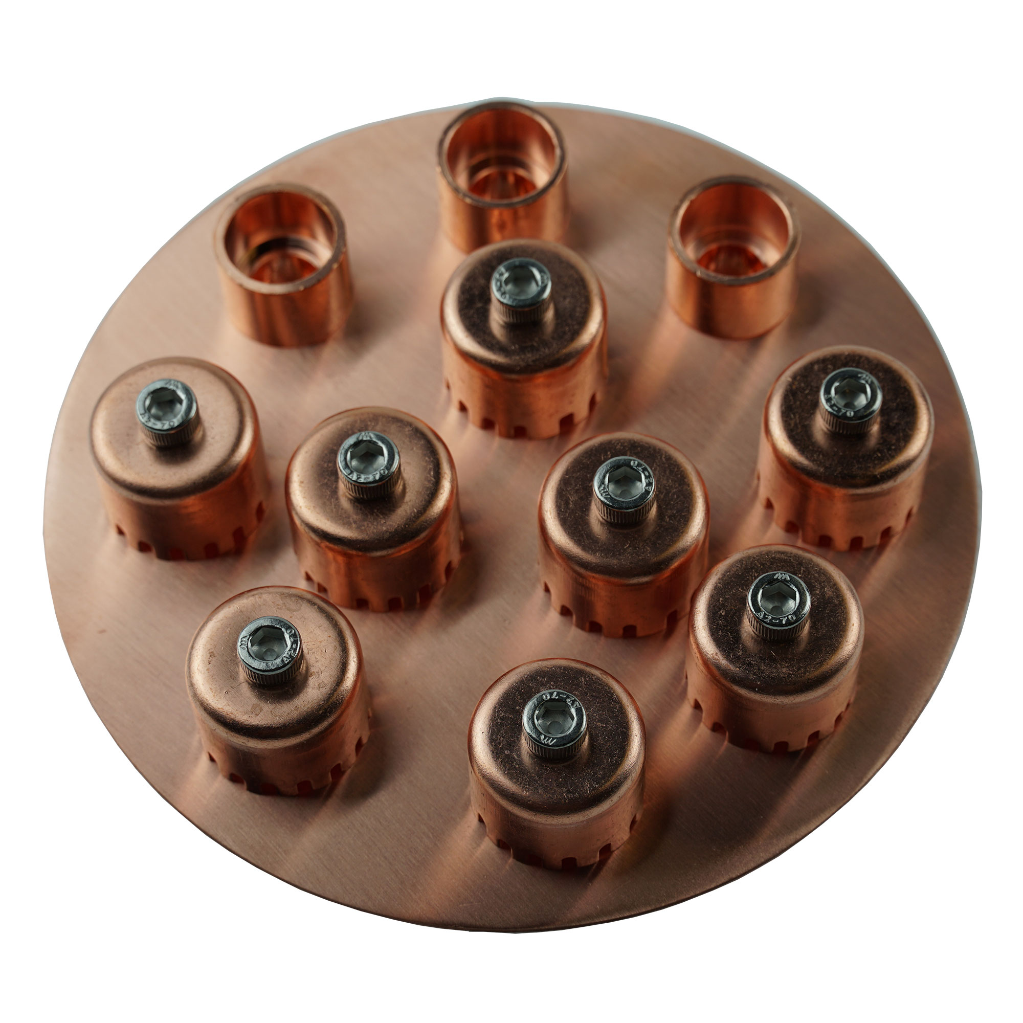 copper bubble cap plate