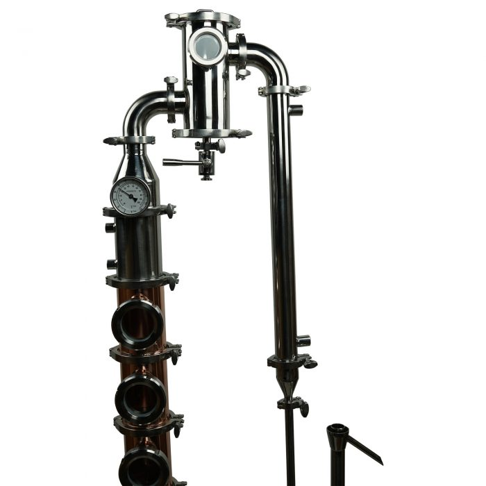 gin basket in flute column