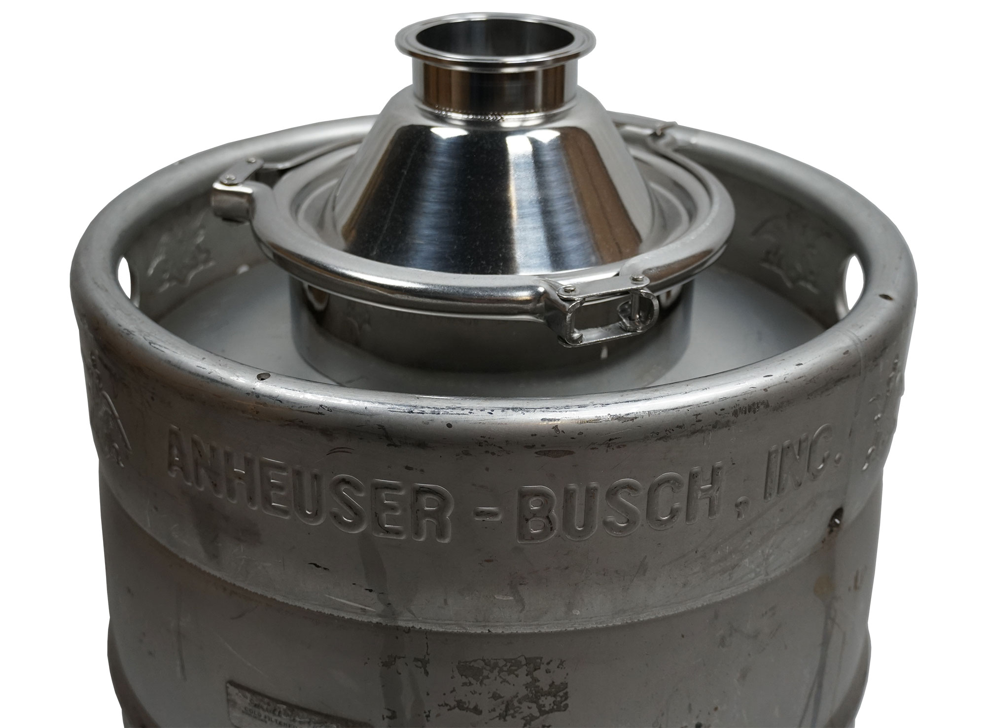 top with lid for keg