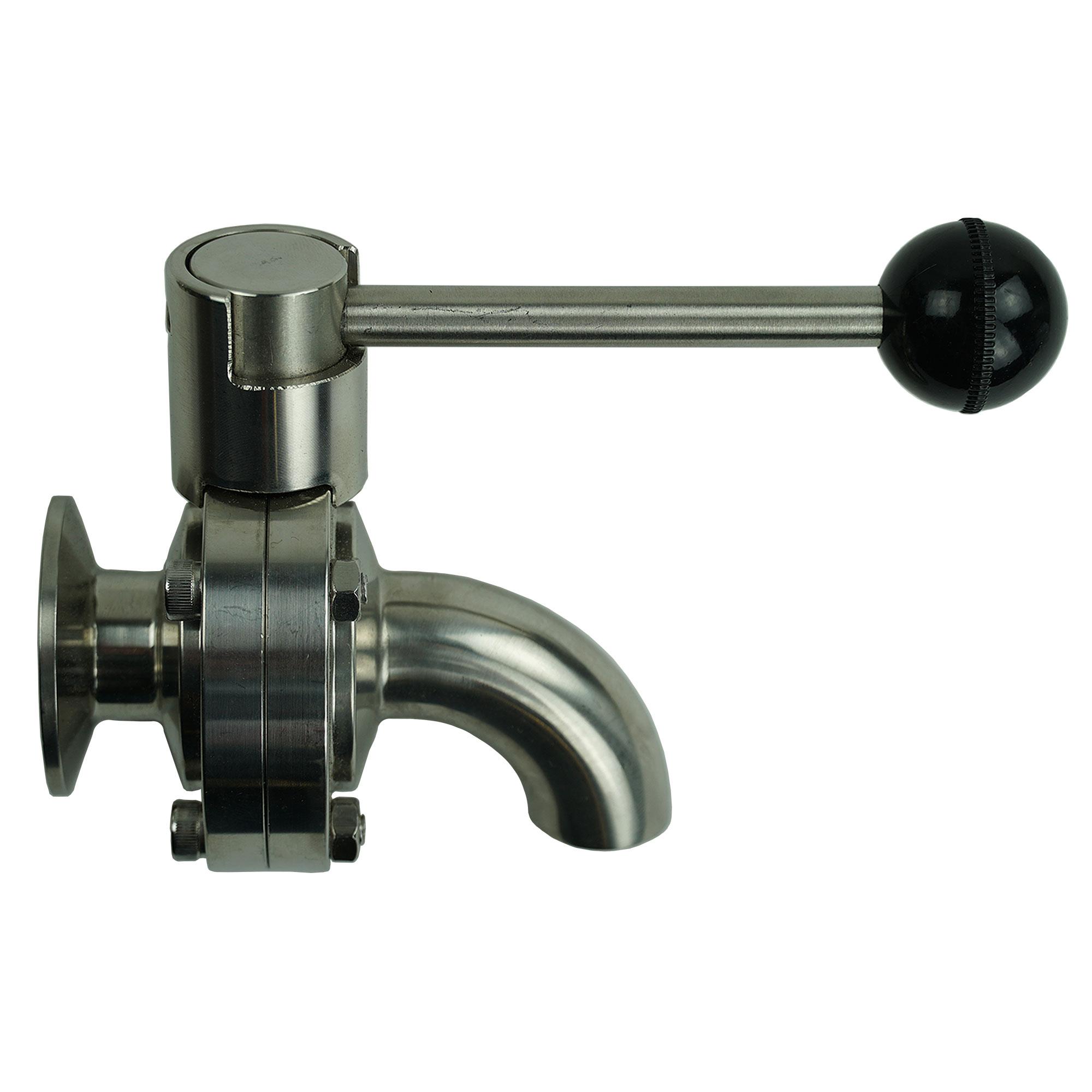 """1.5"""" drain valve with spout"""
