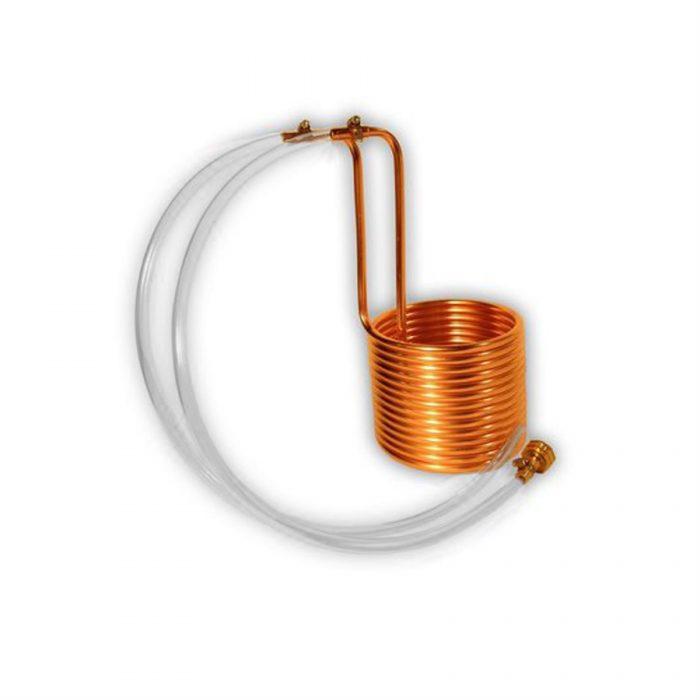 Copper immersion wort chiller